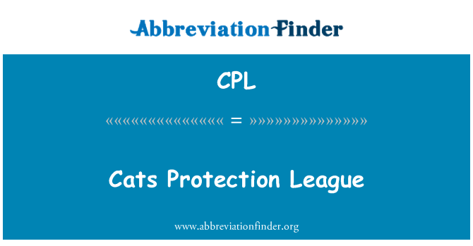 CPL: Cats Protection League
