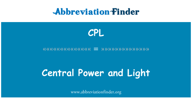 CPL: Central Power and Light