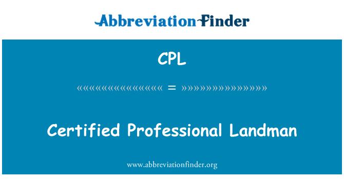 CPL: Certified Professional Landman
