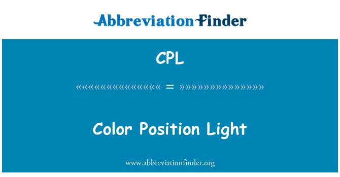 CPL: Color Position Light