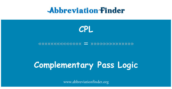 CPL: Complementary Pass Logic