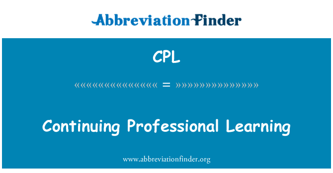 CPL: Continuing Professional Learning