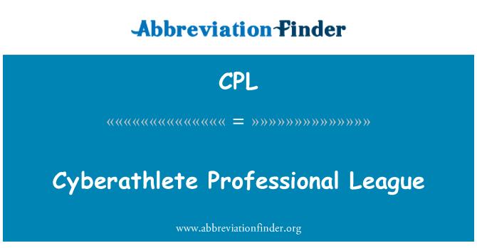 CPL: Cyberathlete Professional League