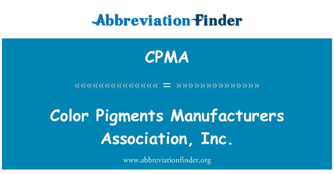 CPMA: Renk pigmentleri Üreticileri Derneği, Inc