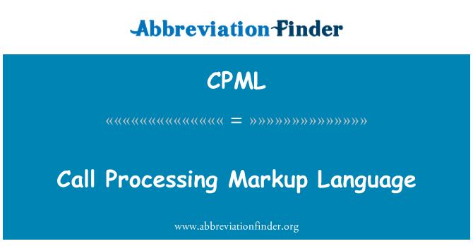 CPML: Biçimlendirme dili işleme ara