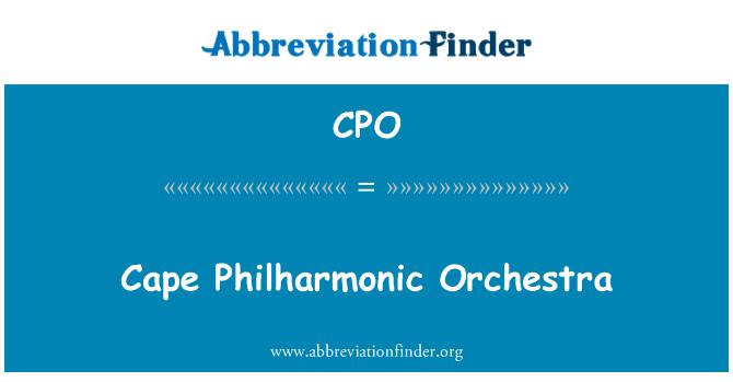 CPO: Cape Philharmonic Orchestra