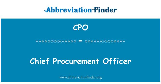 CPO: Chief Procurement Officer