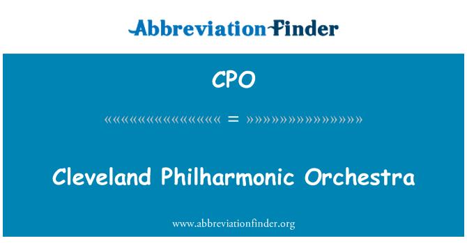 CPO: Cleveland Philharmonic Orchestra