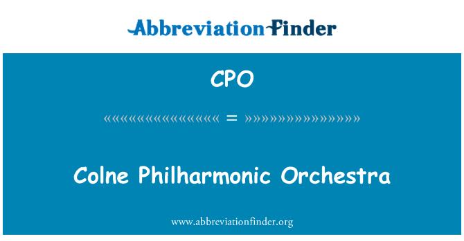 CPO: Colne Philharmonic Orchestra