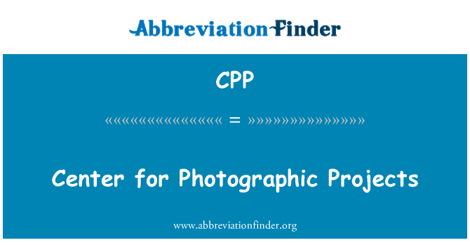 CPP: Center for Photographic Projects