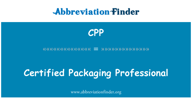 CPP: Certified Packaging Professional