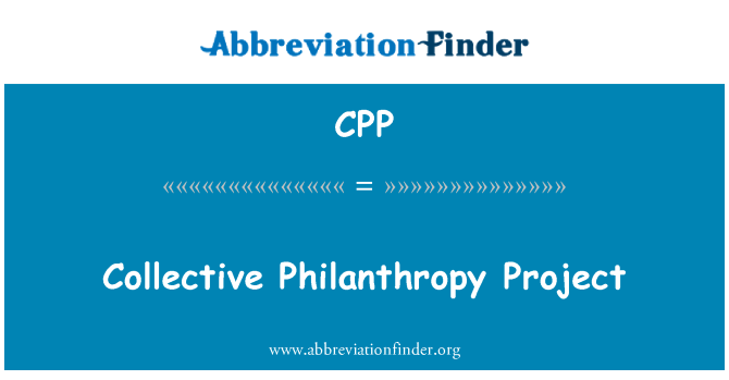 CPP: Collective Philanthropy Project