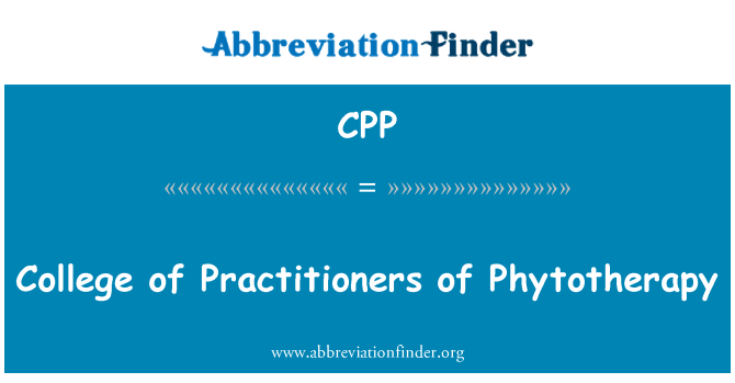 CPP: College of Practitioners of Phytotherapy
