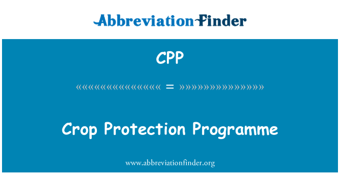CPP: Crop Protection Programme