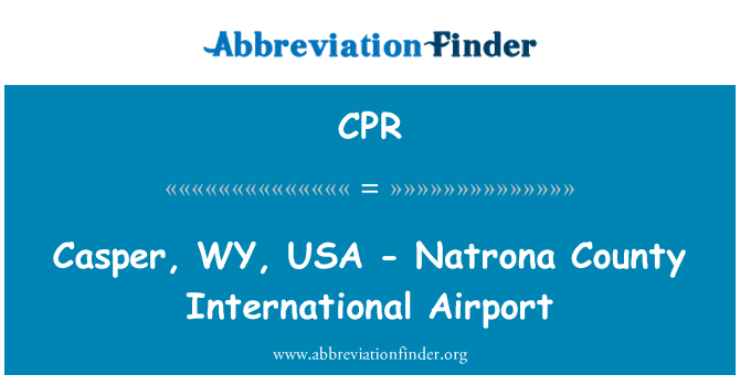 CPR: Casper, WY, USA - Natrona County International Airport