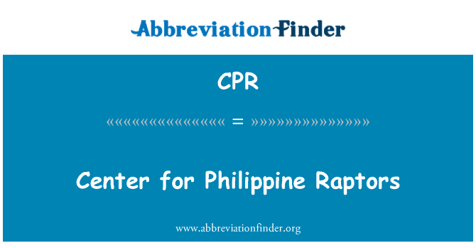 CPR: Center for Philippine Raptors