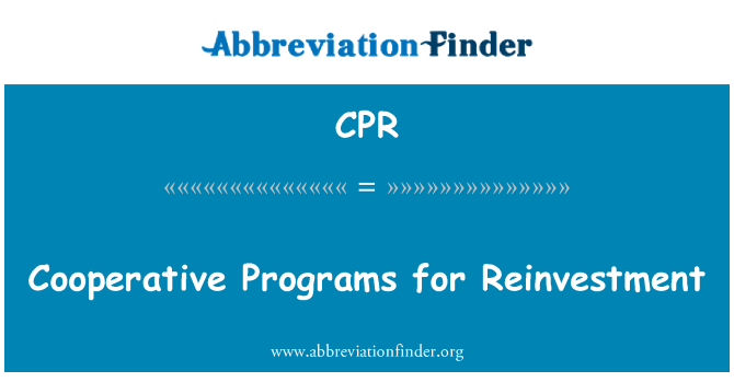 CPR: Cooperative Programs for Reinvestment