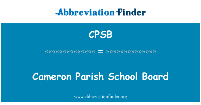 CPSB: Cameron Parish School Board