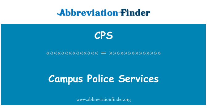 CPS: Campus Police Services