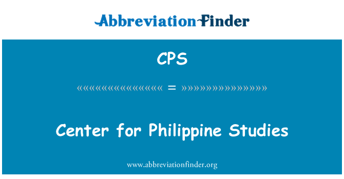 CPS: Center for Philippine Studies