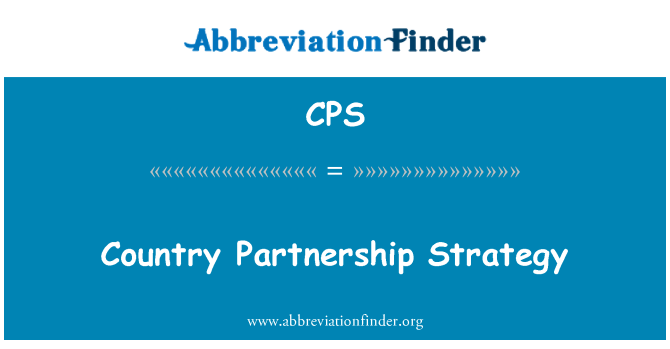 CPS: Country Partnership Strategy