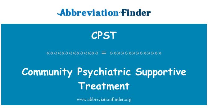 CPST: Ühenduse vaimse tervise toetav ravi