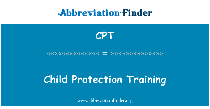CPT: Child Protection Training