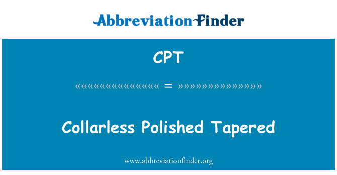 CPT: Collarless Polished Tapered