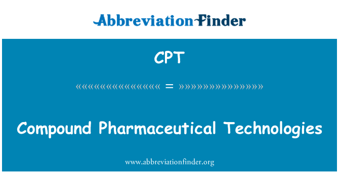 CPT: Compound Pharmaceutical Technologies