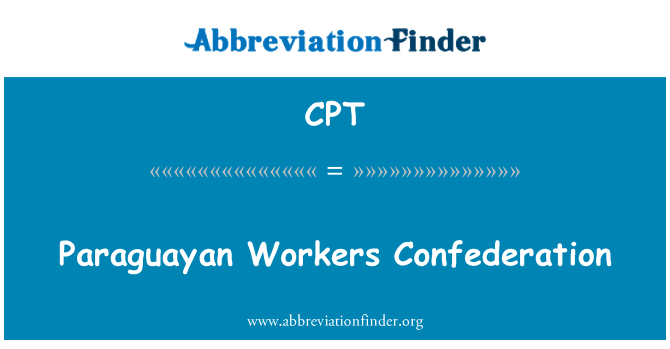 CPT: Paraguayan Workers Confederation