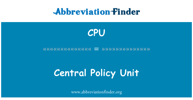 CPU: Central Policy Unit