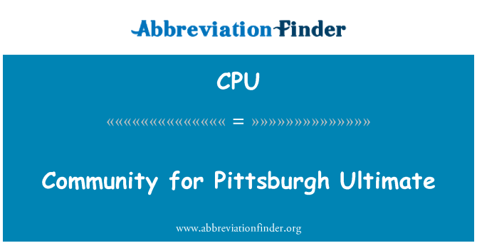 CPU: Community for Pittsburgh Ultimate