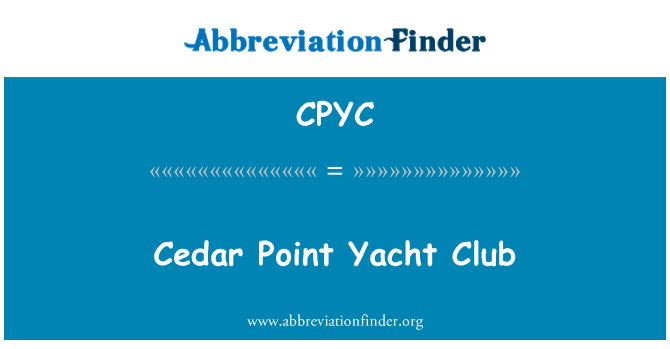 CPYC: Cedar Point Yacht Club