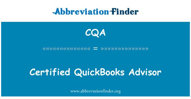 CQA: Certified QuickBooks Advisor