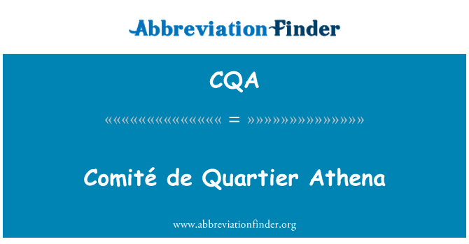 CQA: Comité de Quartier Athena