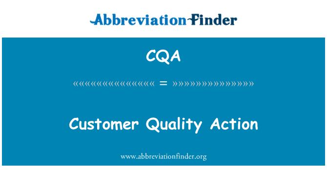 CQA: Customer Quality Action