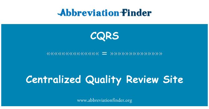 CQRS: Sitio de revisión de calidad centralizado