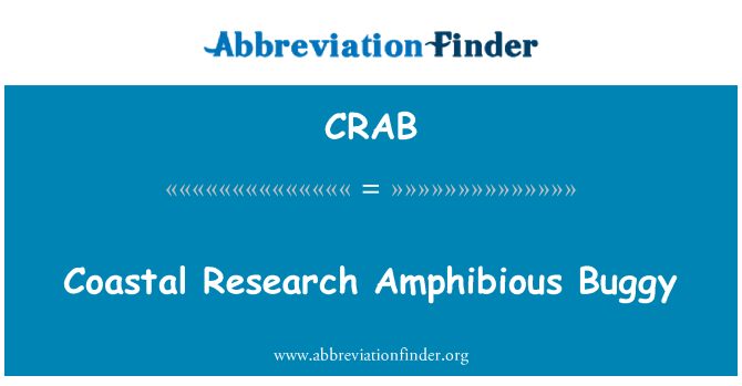 CRAB Definition: Coastal Research Amphibious Buggy