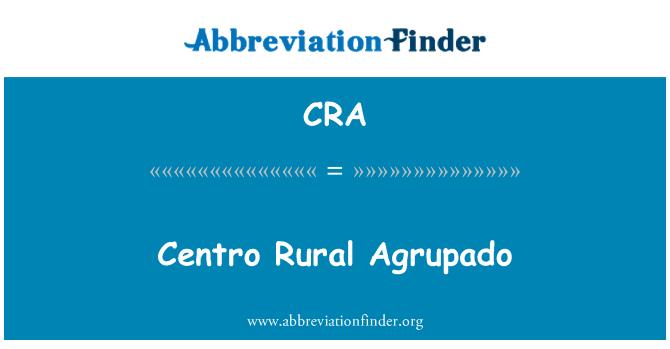 CRA: Centro Rural Agrupado