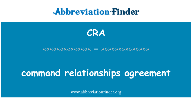 CRA: command relationships agreement