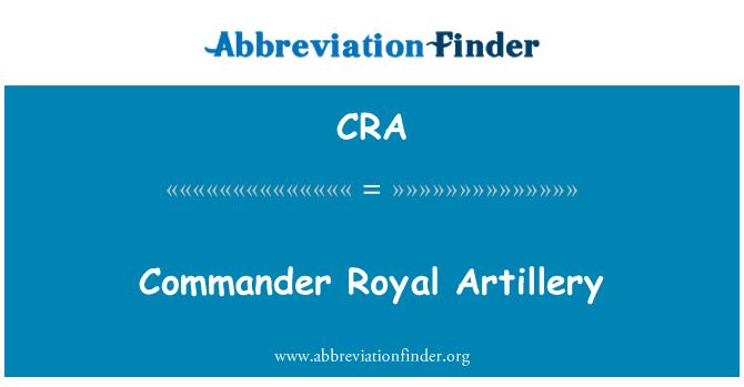CRA: Commander Royal Artillery