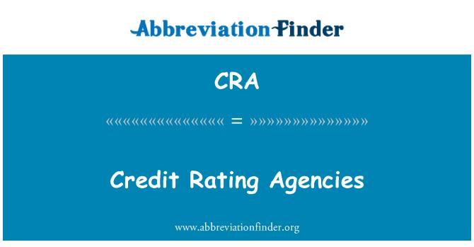 CRA: Credit Rating Agencies