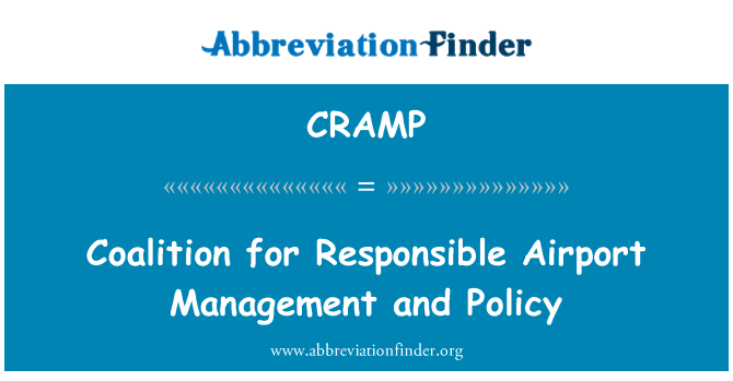 CRAMP: Coalition for Responsible Airport Management and Policy