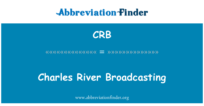CRB: Charles River Broadcasting