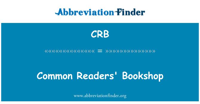 CRB: Common Readers' Bookshop
