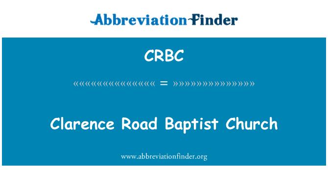 CRBC: Clarence Road Baptist Church