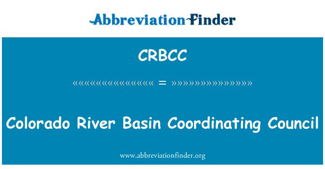 CRBCC: Consejo de coordinación de la cuenca del río Colorado