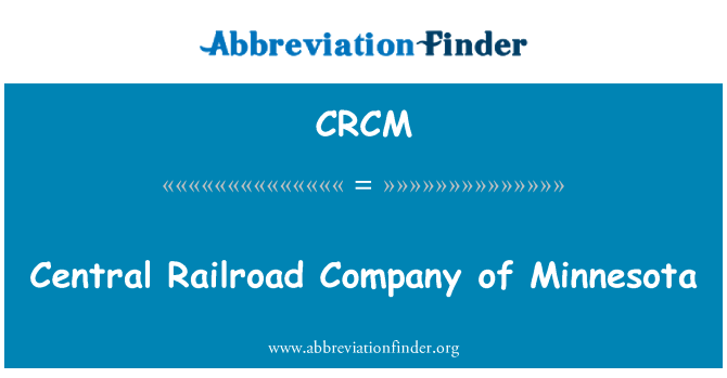 CRCM: Kesk Railroad Company of Minnesota
