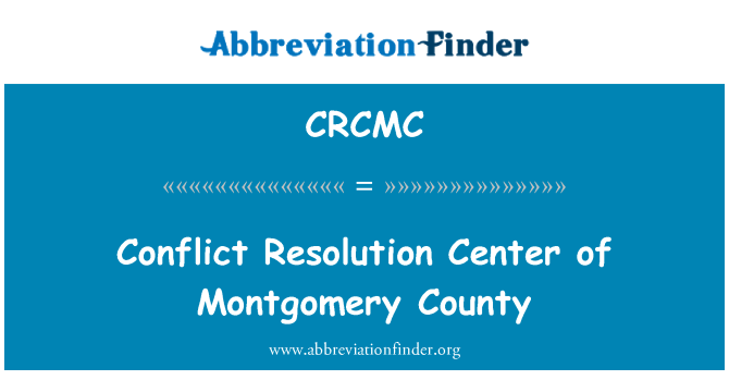 CRCMC: Conflict Resolution Center of Montgomery County