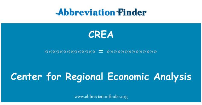 CREA: Center for Regional Economic Analysis